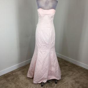 Trully Zac Posen 6 8 Pink Satin Mermaid Gown dress
